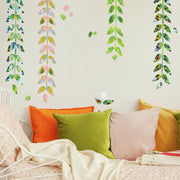 Painterly Floral Clustered Peel and Stick Giant Wall Decals roomset 2