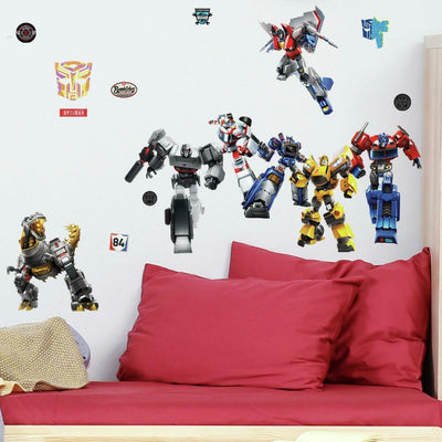 Transformers All Time Favorites Peel and Stick Wall Decals roomset