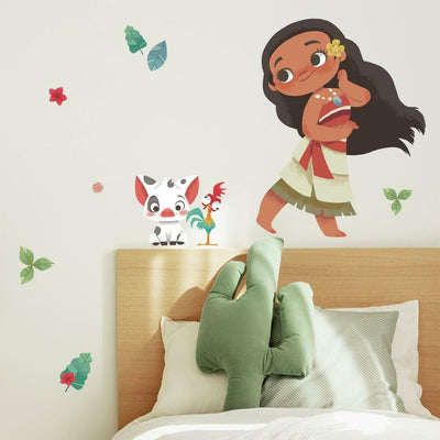 Vintage Disney Moana Peel and Stick Giant Wall Decals roomset 3