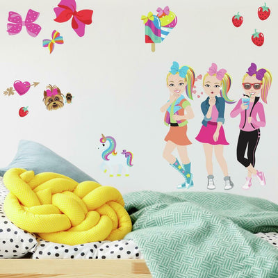 JoJo Siwa Cartoon Peel and Stick Wall Decals roomset