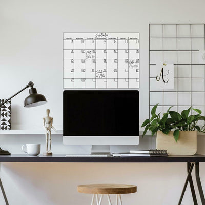 Basics Dry Erase Calendar Peel and Stick Giant Wall Decal roomset