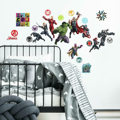 Classic Avengers Peel and Stick Wall Decals roomset