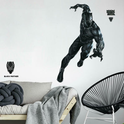 Black Panther Peel and Stick Giant Wall Decals roomset