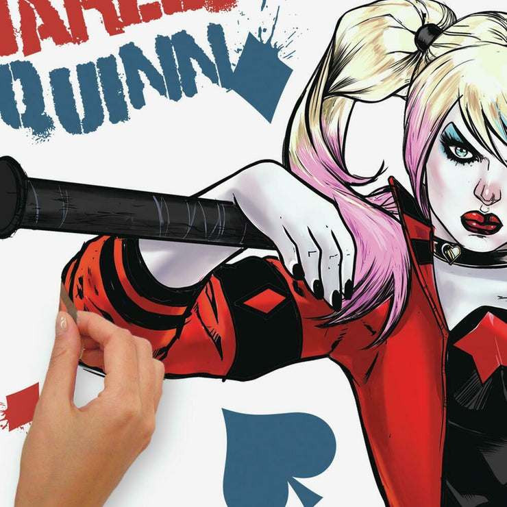 Harley Quinn Peel and Stick Giant Wall Decals peel