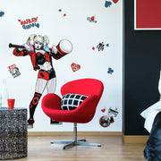 Harley Quinn Peel and Stick Giant Wall Decals roomset