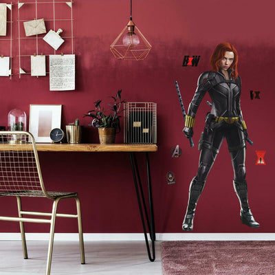 Black Widow Peel and Stick Giant Wall Decals roomset
