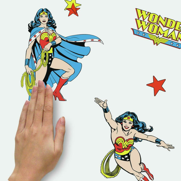 Wonder Woman Cartoon Peel and Stick Wall Decals place