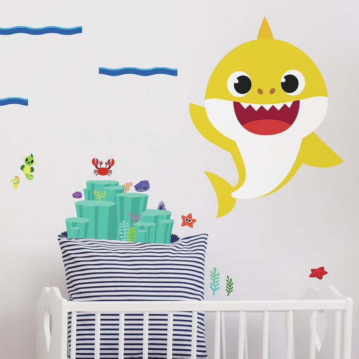 Baby Shark Peel and Stick Giant Wall Decals
