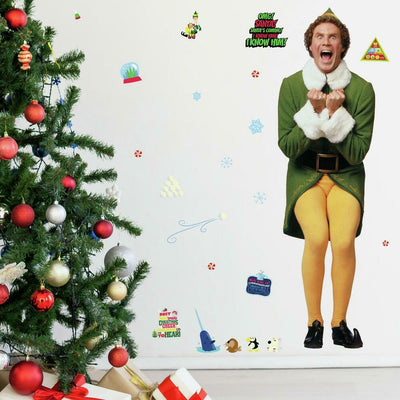 Buddy the Elf Giant Wall Decals roomset