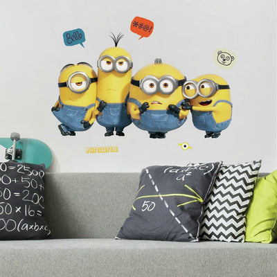 Minions 2 Peel and Stick Giant Wall Decals roomset