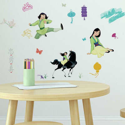 Mulan Peel and Stick Wall Decals roomset