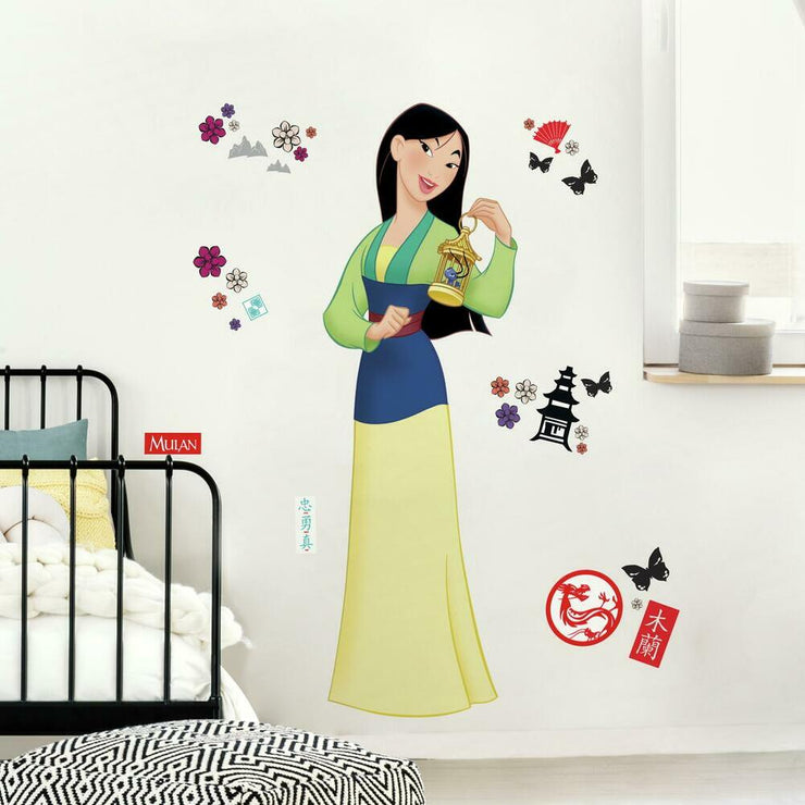 Mulan Peel and Stick Giant Wall Decals roomset 2