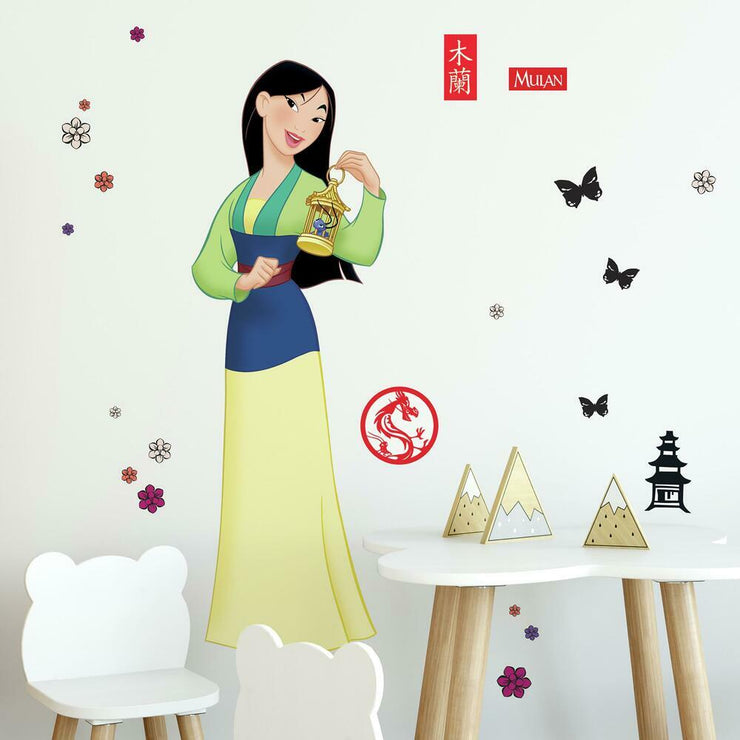 Mulan Peel and Stick Giant Wall Decals roomset