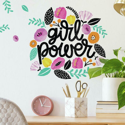 Girl Power Giant Wall Decals roomset