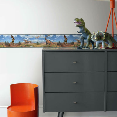 Dinosaurs Peel and Stick Border roomset