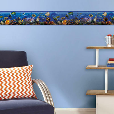 Under the Sea Peel and Stick Border roomset
