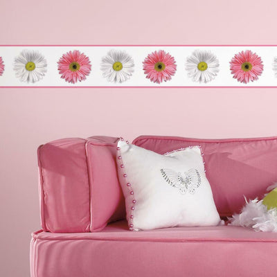 Flower Power Peel and Stick Border roomset