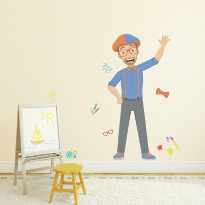 Blippi Peel and Stick Giant Wall Decals roomset
