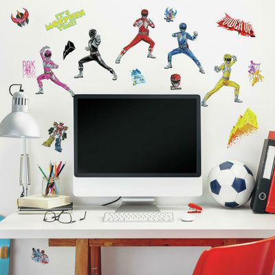 Power Rangers Peel and Stick Wall Decals roomset