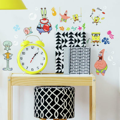 Spongebob Classic Peel and Stick Wall Decals roomset