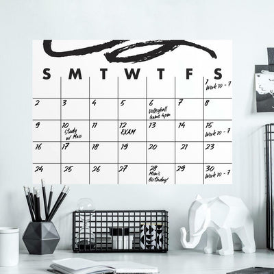 Doodle Dry Erase Calendar Peel and Stick Giant Wall Decal roomset