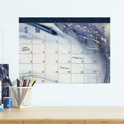 Celestial Sister Dry Erase Calendar Peel and Stick Giant Wall Decal roomset