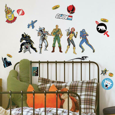 GI Joe Retro Peel and Stick Wall Decals roomset