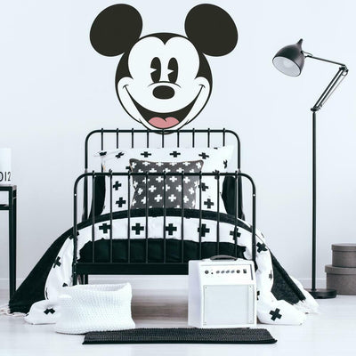 Classic Mickey Head XL Peel and Stick Wall Decal roomset