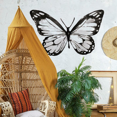 Watercolor Butterfly Peel and Stick Giant Wall Decals roomset