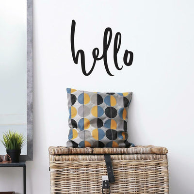 Hello Quote Peel and Stick Wall Decals roomset