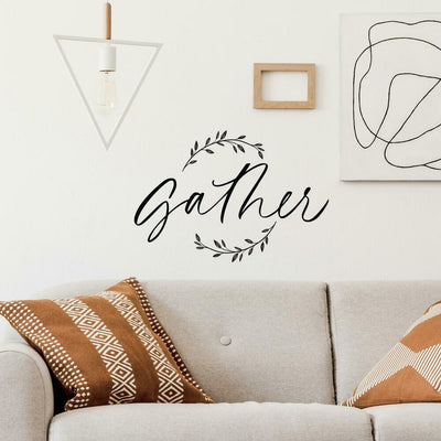 Farmhouse Gather Peel and Stick Wall Decals roomset