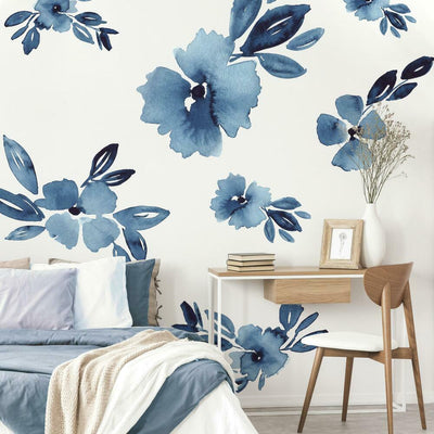 Clara Jean April Showers Flowers Peel and Stick Giant Wall Decals roomset