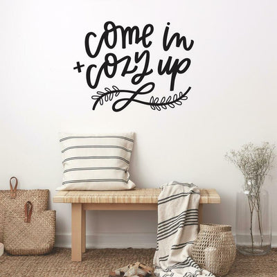 Come In Cozy Up Quote Peel and Stick Wall Decals roomset