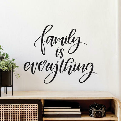 Family is Everything Quote Peel and Stick Wall Decals roomset