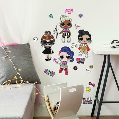 LOL Surprise Rock Star Peel and Stick Wall Decals roomset