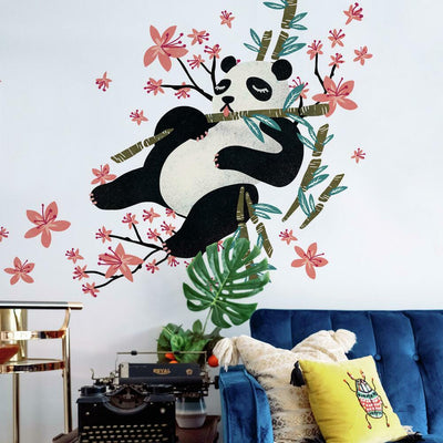 Catcoq Panda Giant Peel and Stick Wall Decals roomset