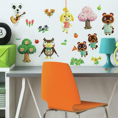 Animal Crossing Peel and Stick Wall Decals roomset