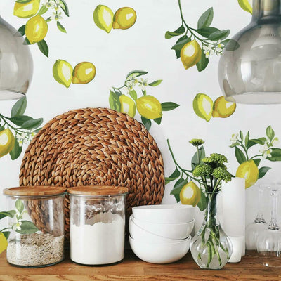 Lemon Peel and Stick Giant Wall Decals roomset