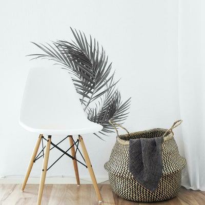 Black and White Palm Peel and Stick Giant Wall Decals roomset