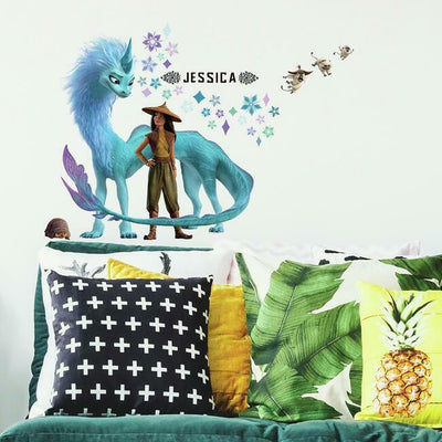 Raya and the Last Dragon Headboard Peel and Stick Wall Decals roomset