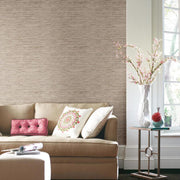 RMK9031WP Tan Grasscloth Peel And Stick Wallpaper RS4