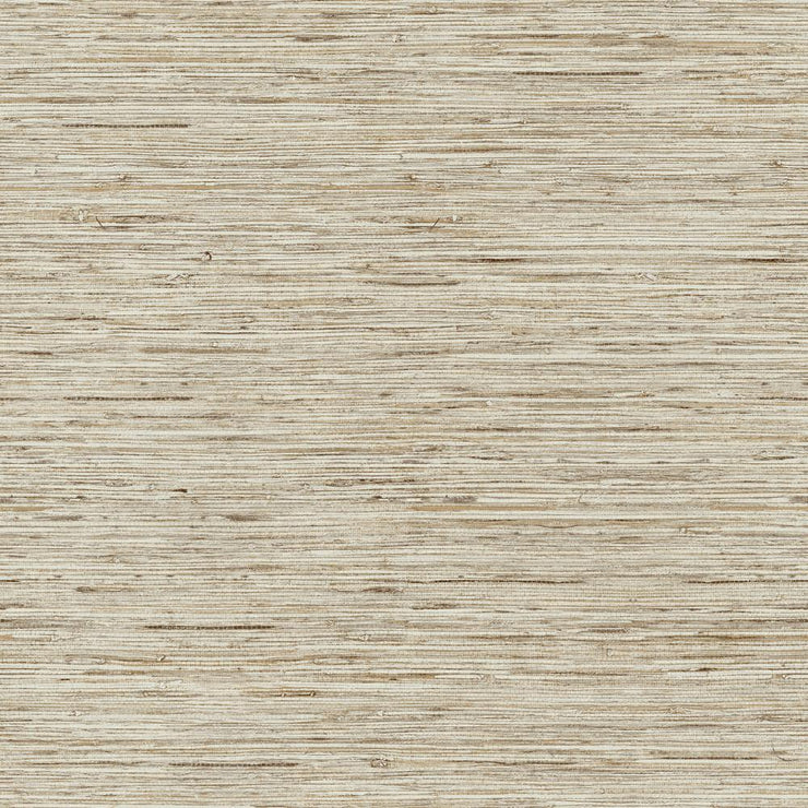 RMK9031WP Tan Grasscloth Peel And Stick Wallpaper