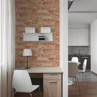 RMK9035WP Red Brick Peel And Stick Wallpaper