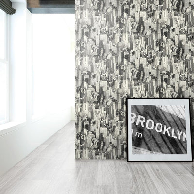New York City Peel and Stick Wallpaper roomset 3