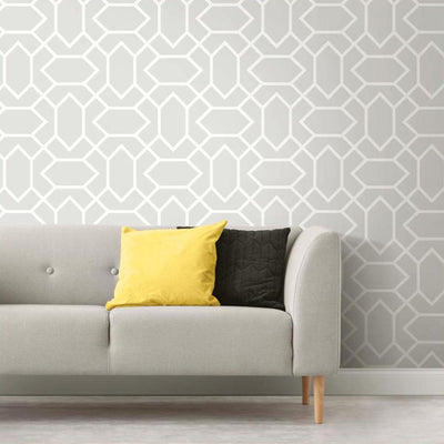 RMK9065WP Gray Modern Geometric Peel And Stick Wallpaper Is Great For DIY
