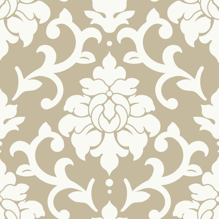 Damask Peel And Stick Wallpaper gold