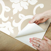 Damask Peel And Stick Wallpaper gold peel