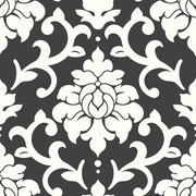 Damask Peel And Stick Wallpaper black