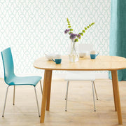 Trellis Peel and Stick Wallpaper blue roomset 4