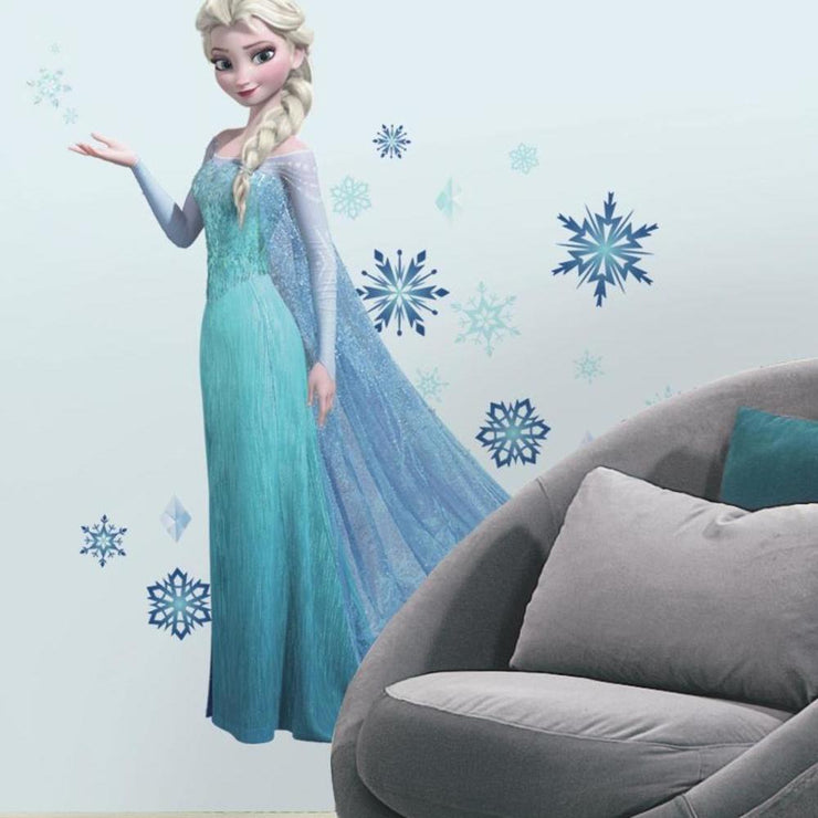 Frozen Elsa Giant Wall Decals with Glitter roomset